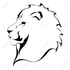 coloring fancy lion simple drawing tattoo coloring