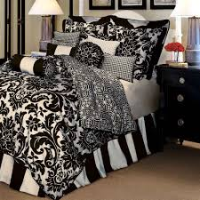 Symphony Black And White Bedspreads Queen Apartment Ideas - Damask bedroom ideas
