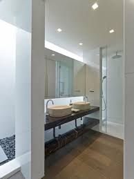 Large Bathroom Mirrors Ideas Attractive Decorating Ideas Using Rectangular Brown Rugs And