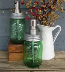 green pint mason jar soap dispenser home do not use bathroom