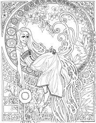 coloring pages coloring page for later or this u003e u003e u003e art nouveau