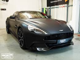 aston martin matte black vehicle vinyl wrapping and car paint protection 5
