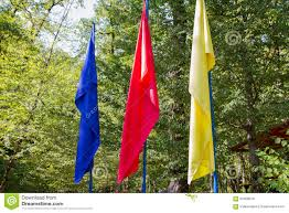 Red Blue Yellow Flag Red Blue And Yellow Flags Stock Image Image Of Background