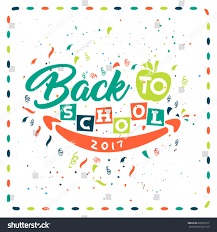 back school colorful greeting card design stock vector 688569577
