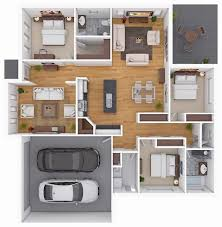 House Design With Floor Plan 3d 10 Awesome Two Bedroom Apartment 3d Floor Plans Bedroom