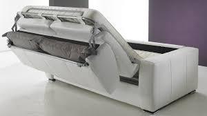 canape cuir blanc convertible canapé convertible en cuir 3 places lit 140 cm promo usine