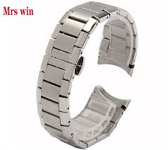 metal bracelet watches images Mrs win new mens stainless steel silver metal bracelet watch band jpg