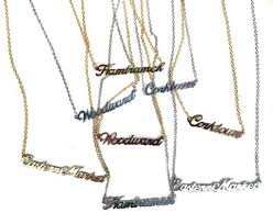 necklace with name pendant images Royal oak script necklace neighborhood name pendant jpg