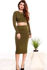 green long sleeve halter top open back lace pencil dress