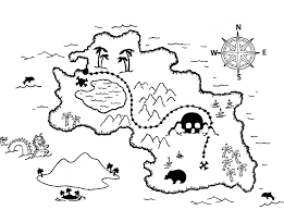 impressive treasure map coloring page with map coloring pages