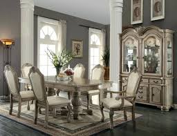 home designer pro layout 7 pcs dining table set chateau antique white finish dining set home
