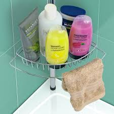 4 tier adjustable shower rack caddy telescopic chrome corner bath