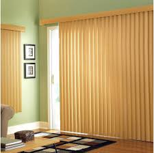 decorating large sliding glass door blinds for family room