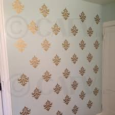 vinyl wall stickers amazon com damask set of 18 vinyl wall decal self adhesive wall