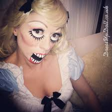 Creepy Doll Makeup For Halloween Dress Up Doll