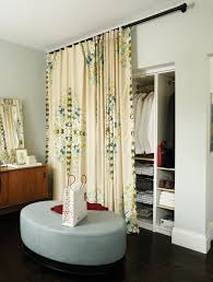 Cloth Closet Doors Using Window Coverings As Closet Doors Princess Style Closet