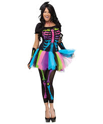 Ladies Skeleton Halloween Costume by Funky Punk Bones Halloween Costume For Women Costumes