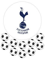 football cake toppers tottenham hotspurs spurs football club emblem cake topper and