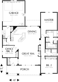small craftsman one story house plans floor plans for small one 2