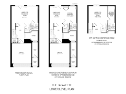 Townhome Floorplans Luxury Townhome Floorplans At Potomac Highlands Camberley At