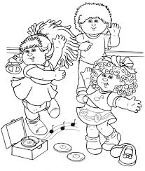 cabbage patch coloring pages aecost net aecost net