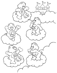 care bears playing clouds coloring pages care bears