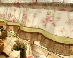 Toile Window Valances Pink Toile Curtains Etsy