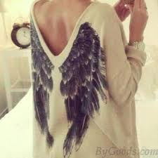 fashion wings v neck sleeve blouse t shirt s tops