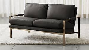 How To Clean A Leather Sofa Sofas Couches And Loveseats Crate And Barrel