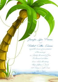 palm tree wedding invitations custom coconut tree tropical destination wedding invites