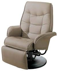 Swivel Recliner Armchair Contemporary Berri Swivel Recliner With Flared Arms Leatherette