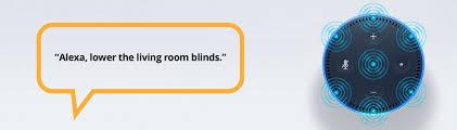 amazon alexa control for window shading systems