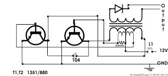 Transformer Coupled Transistor Amplifier Schematic Cfl Emergency Kit Push Pull Application 12volt 18watt Circuits Diy