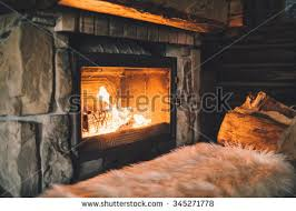 Fireplace With Music by Feet Woollen Socks By Christmas Fireplace Stock Photo 348562265