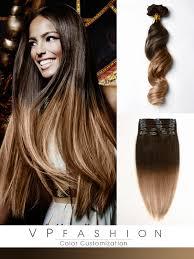 vpfashion ombre hair extensions two colors ombre clip in hair extensions m0614 m0614 vpfashion