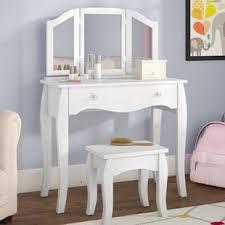mirrored bedroom vanity table kids vanities you ll love wayfair