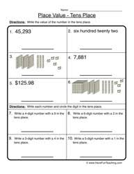 Havefunteaching Com Math Worksheets Place Value Worksheets Teaching