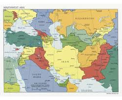A Map Of The Middle East by Map Of Countries In Western Asia And The Middle East Southwest