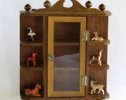 small curio cabinet with glass doors curio cabinet etsy