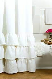 Frilly Shower Curtains Ruffle Linen Shower Curtain Incredible The Best Curtains Ideas On