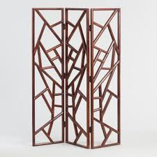 carved wood abstract rigby screen world market