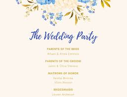 customized wedding programs free online wedding program maker design a custom wedding program