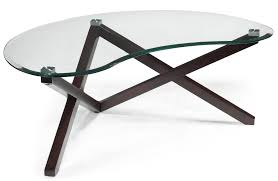 White Toughened Glass Bedroom Furniture Kidney Shaped Cocktail Table With Tempered Glass Top And Crossbar