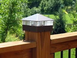 solar powered deck post lights deck post cap lights solar led low voltage decksdirect deck cap