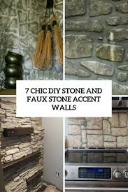 Accent Walls by 7 Chic Diy Stone And Faux Stone Accent Walls Shelterness