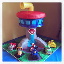 paw patrol tower cake cakecentral