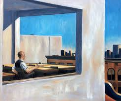 edward hopper office in a small city oil reproduction on canvas