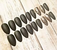 olive u0026 copper stiletto nails press on nails glue on nails