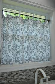 Damask Kitchen Curtains Damask Cafe Curtain Choose Color Window Treatments Kitchen
