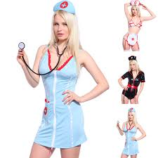 ladies wetlook nurse uniforms zip up fancy dress complete